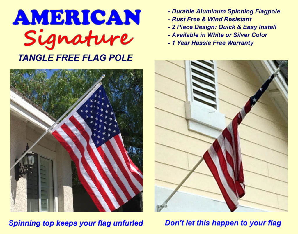American flags made in the usa and tangle free flagpole for 3 flag pole etiquette